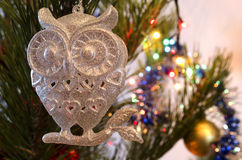 Christmas Toy in the form of an owl Stock Photos