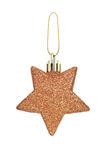 A Christmas toy in the form of stars on a white background. Royalty Free Stock Photos