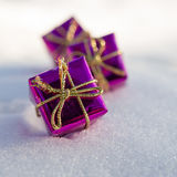 Christmas toy gift box Stock Photography