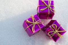 Christmas toy gift box Royalty Free Stock Photos