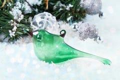 Christmas toy glass bird Stock Image