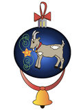 Christmas toy with a goat. This image is a  illustration and can be scaled to any size without loss of resolution Royalty Free Stock Photography
