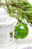 Christmas toy green ball Royalty Free Stock Images