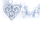 Christmas toy. Christmas heart on white background Royalty Free Stock Photo