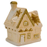 Christmas toy house. Isolated on a white background Stock Images