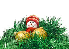 Christmas toy with New Year decoration Balls Stock Images