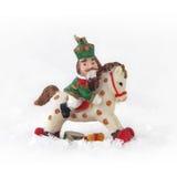 Christmas toy - Nutcracker on horseback. Isolated object Royalty Free Stock Images