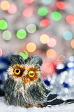 Christmas toy owl Royalty Free Stock Images