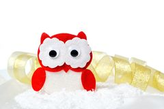 Christmas toy owl Royalty Free Stock Photos