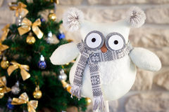Christmas Toy Owl Stock Image