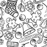 Christmas toy pattern Stock Image