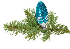 Christmas toy pine cone Stock Photography