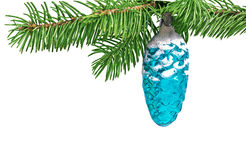 Christmas toy pine cone Royalty Free Stock Photos