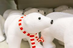 Christmas toy polar bear for the New Year. stock photography