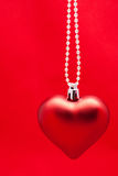 Christmas toy red heart Stock Photo