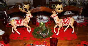 Christmas toy reindeers Royalty Free Stock Photos