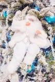 Christmas toy Santa Claus on the  tree Stock Photos