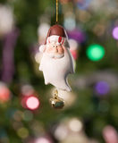 Christmas toy - santa  with tree and lights Stock Photo