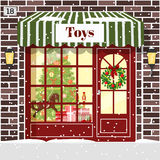Christmas Toy shop toy store building facade Royalty Free Stock Photo