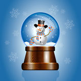 Christmas toy snow globe Royalty Free Stock Images