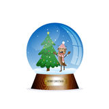 Christmas toy snow globe Stock Photos