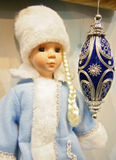 Christmas toy - Snow Maiden. New Year's toys what to make a holiday is brighter stock photos
