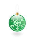 Christmas toy with snowflake. Christmas green toy with snowflake Royalty Free Stock Photo