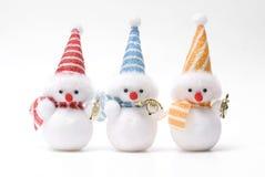Christmas toy snowman. Snowman christmas toy isolated white background Stock Photo