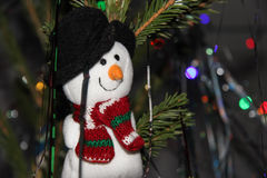 Christmas toy snowman Stock Images