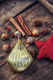 Christmas toy and spices Stock Photos