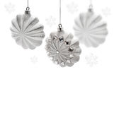 Christmas toy. Christmas stars on white background Royalty Free Stock Photography