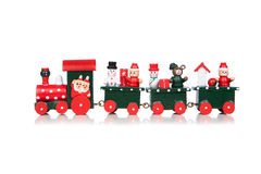 Christmas Toy Train. Isolated Over White Background stock photos