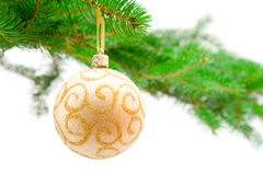 Christmas toy and tree Royalty Free Stock Photography