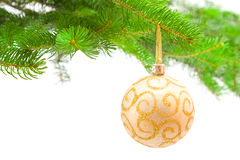 Christmas toy and tree Royalty Free Stock Image