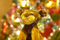 Christmas toy at Christmas tree Royalty Free Stock Photography