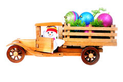 Christmas Toy Truck Royalty Free Stock Image