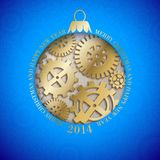 Christmas toy with wheels and gears. Stock Photography