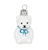 Christmas toy white teddy bear Royalty Free Stock Photo