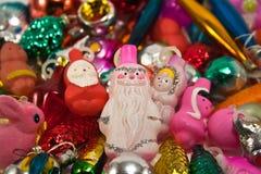 Christmas toys. Balls santa and more Stock Image