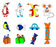 Christmas toys Stock Photography