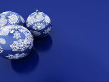 Christmas Toys. On blue background Royalty Free Stock Images