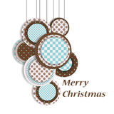 Christmas toys 2. Christmas balls with text and ornament Royalty Free Stock Photo