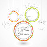 Christmas toys 2. Christmas balls with text and ornament Vector Illustration