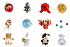 Christmas toys. Image Christmas toys on a white background Stock Photo