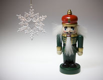 Christmas Toys. Image of Christmas toys , nutcracker and snow flake royalty free stock images