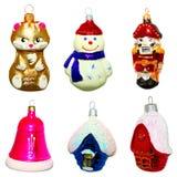 Christmas toys. Isolated on white Stock Photo