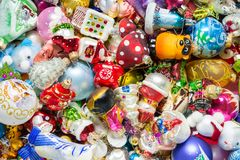 Christmas toys background stock images
