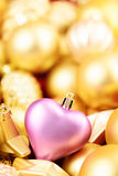 Christmas toys background. Gold collection Royalty Free Stock Images