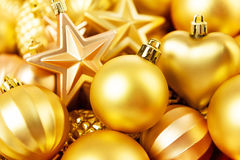 Christmas toys background. Gold collection Stock Images