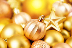 Christmas toys background. Gold collection Stock Photo